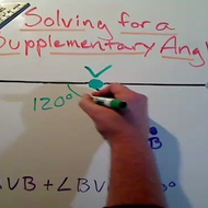 Solving for a Supplementary Angle