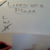Lines on a Plane