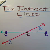 Two Intersecting Lines