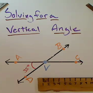 Solving for a Vertical Angle