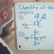 Identifying an Acute Angle in Context