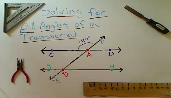Solving for All Angles of a Transversal
