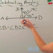 Subtracting Two Angles