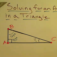 Solving for an Angle of a Triangle