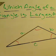 Determining the Largest Angle of a Triangle