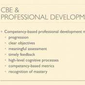 Competency Based Professional Development