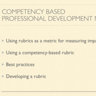 Competency Based Professional Development Metrics