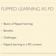 Flipped Learning as Professional Development