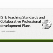 ISTE Teacher Standards and Collaborative Professional Development Plans