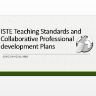 ISTE Teacher Standards and Collaborative Professional Development Plans
