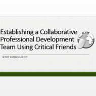 Establishing a Collaborative Professional Development Team Using Critical Friends