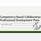 Competency Based Collaborative Professional Development Plans