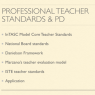 Professional Teacher Standards and Professional Development Plans