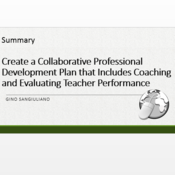 """Summary of """"Create a collaborative professional development plan that includes coaching and evaluati"""