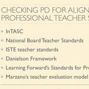 Checking Professional Development for Alignment to Professional Teacher Standards
