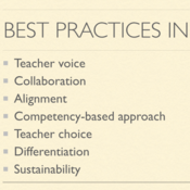 Best Practices in Professional Development