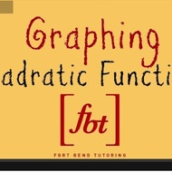 Graphing Quadratic Functions (Vertical Parabolas)