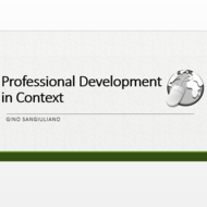 Professional Development in Context
