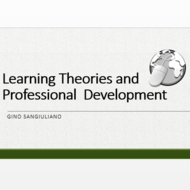 Learning Theories and Professional Development