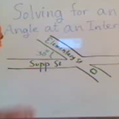 Solving For a Supplementary Angle in an Intersection