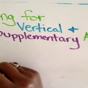 Solving for Vertical and Supplementary Angles