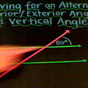 Solving for Alternate Interior Exterior and Vertical Angles