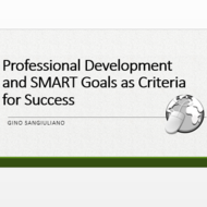 Professional Development and SMART Goals as Criteria for Success