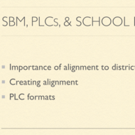 SBM, PLCs, and School Improvement