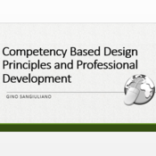 Competency Based Design Principles and Professional Development