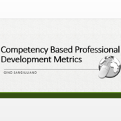 Competency Based Professional Development Metrics