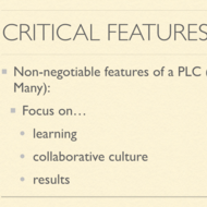 Critical Features of a PLC