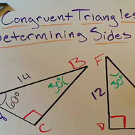 Determining Side Lengths in Congruent Triangles