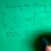 Finding the Missing Side of a Pythagorean Triple