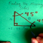 Finding the Missing Side of a 45-45-90 Triangle
