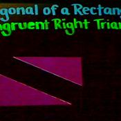 The Diagonal of a Rectangle