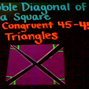 Double Diagonals of a Square