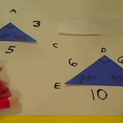 Determining the Ratio of Similar Triangles