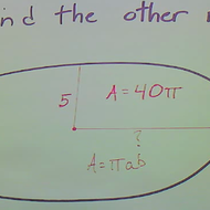 Determine a Radius of an Ellipse from the Area and the Other Radius