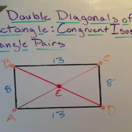 Double Diagonals of a Rectangle