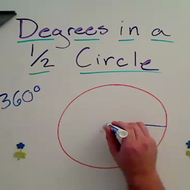 Degrees in Semi Circle