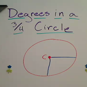 Degrees in a Three Quarter Circle