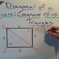 The Diagonal of a Square