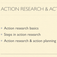 Action Research and Action Planning