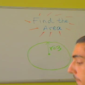 Determining the Area of a Circle from the Radius