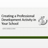 Creating a Professional Development Activity in Your School