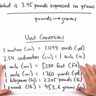 Converting Units with Conversion Factors