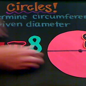 Determining the Circumference of a Circle from the Diameter
