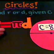 Determining the Radius or Diameter of a Circle from the Circumference