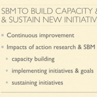 SBM to Build Capacity, Implement and Sustain New Initiatives