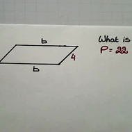 Determining Side Length of a Parallelogram